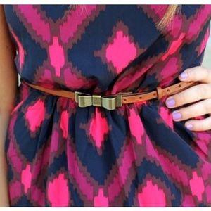 Gap Brown Skinny Bow Leather Belt